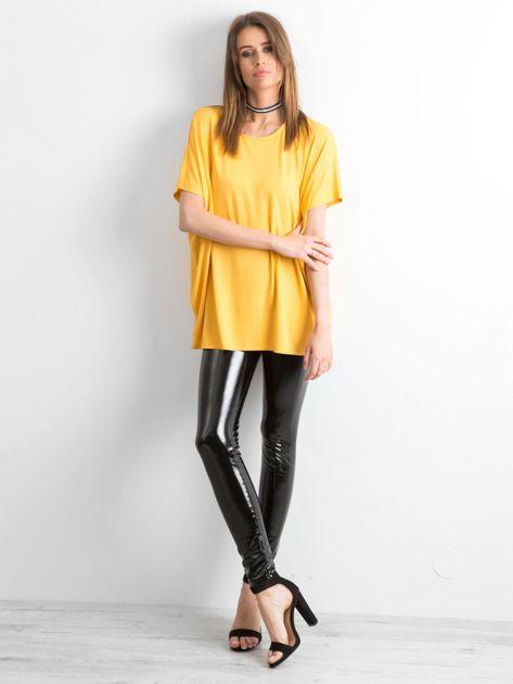Ciemnożółta bluzka Oversize                              zdj.                              4