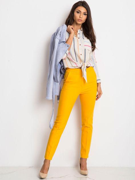 Ciemnożółte spodnie Favorite                              zdj.                              4