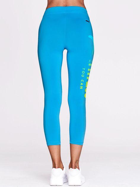 Cienkie legginsy do biegania z ombre printem niebieskie                                  zdj.                                  3