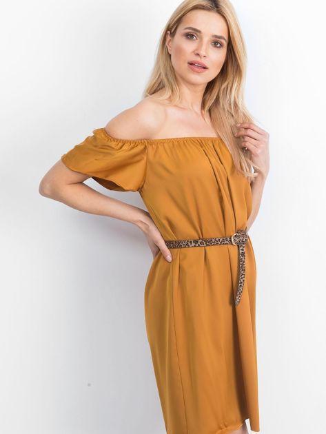 Cynamonowa sukienka Oriental                              zdj.                              3