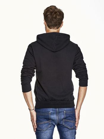Czarna bluza męska z kapturem z napisem DANGER                                  zdj.                                  2