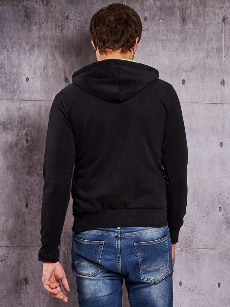 Czarna bluza męska z raperskim nadrukiem                                   zdj.                                  2