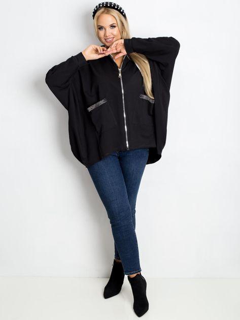 Czarna bluza plus size New                              zdj.                              4