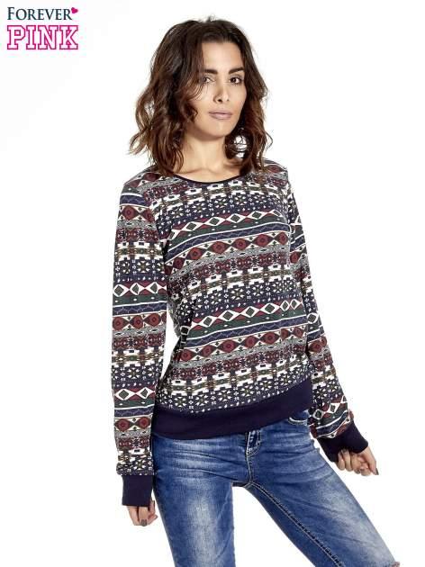 Czarna bluza w azteckie wzory                                  zdj.                                  1