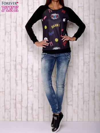 Czarna bluza z komiksowymi motywami                                  zdj.                                  4