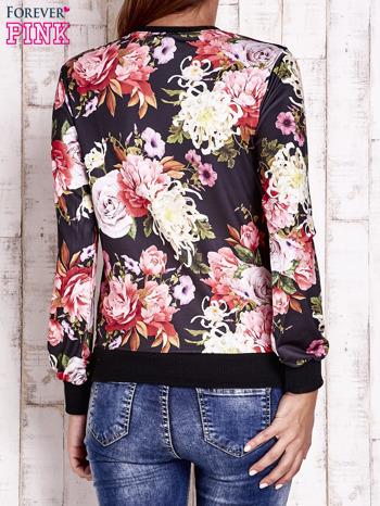 Czarna bluza z kwiatowym motywem                                  zdj.                                  4