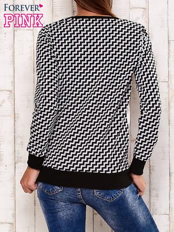 Czarna bluza z motywem kwiatowym i geometrycznym tyłem                                  zdj.                                  4