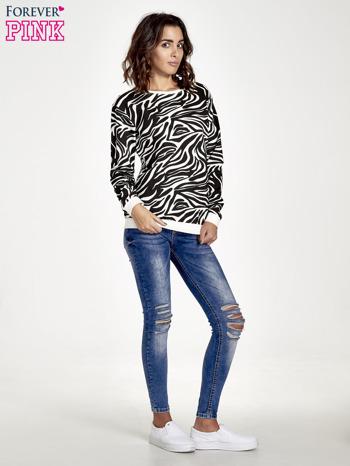 Czarna bluza z nadrukiem zebra print                                  zdj.                                  7