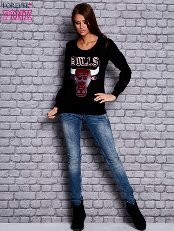 Czarna bluza z napisem BULLS                                  zdj.                                  4