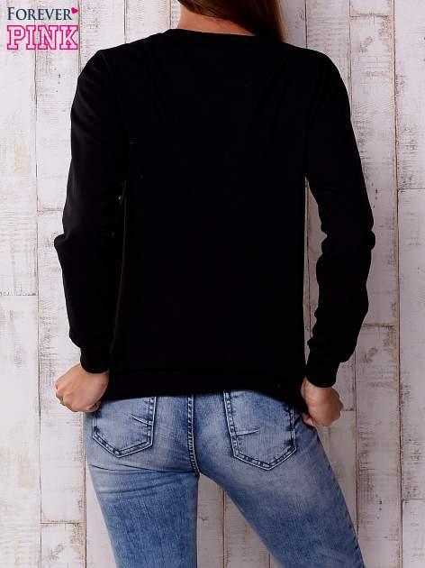 Czarna bluza z napisem I HAVE NOTHING TO WEAR                                  zdj.                                  4