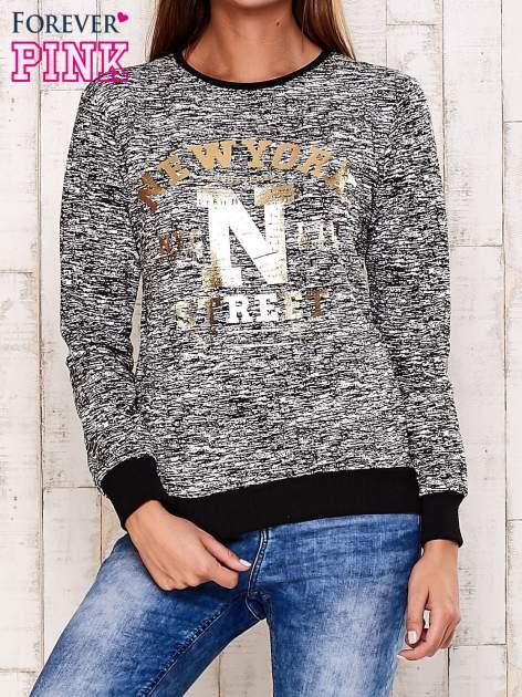 Czarna bluza z napisem NEW YORK STREET                                  zdj.                                  1