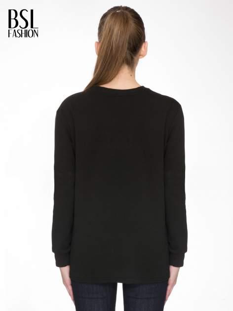 Czarna bluza z narukiem AIN'T LAURENT WITHOUT YVES                                  zdj.                                  4