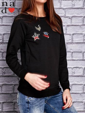 Czarna bluza z naszywkami                                  zdj.                                  3