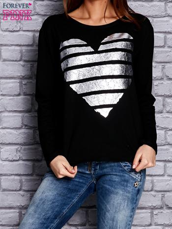 Czarna bluza z sercem                              zdj.                              1