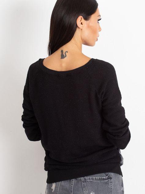 Czarna bluza z tanecznym nadrukiem                              zdj.                              2