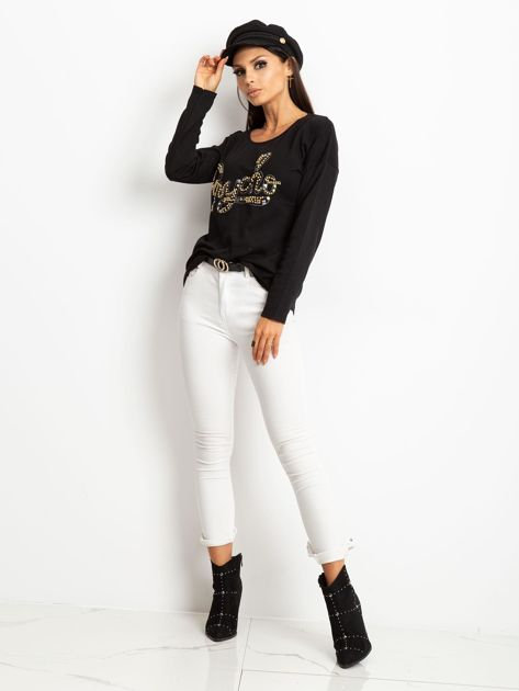Czarna bluzka Megan                              zdj.                              4