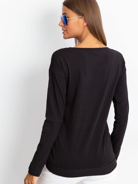 Czarna bluzka Sequin                              zdj.                              2