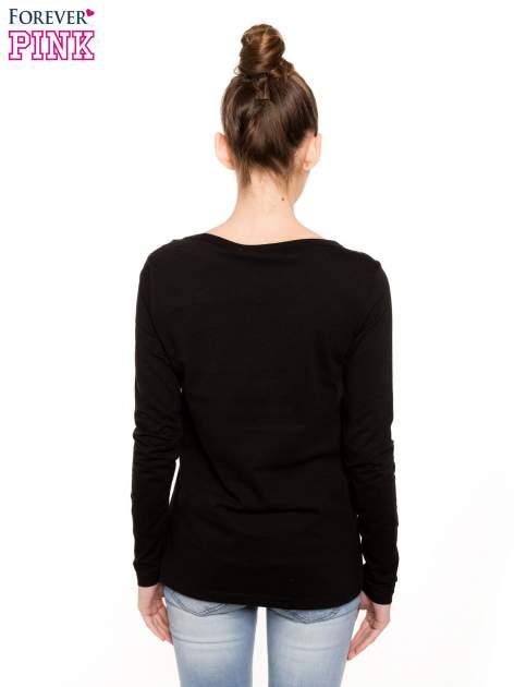 Czarna bluzka basic z dekoltem w serek                                  zdj.                                  2