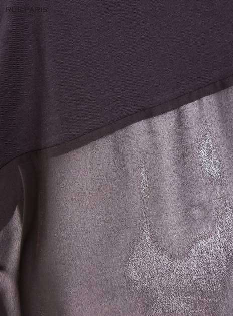 Czarna bluzka oversize z siateczkowym dołem                                  zdj.                                  5