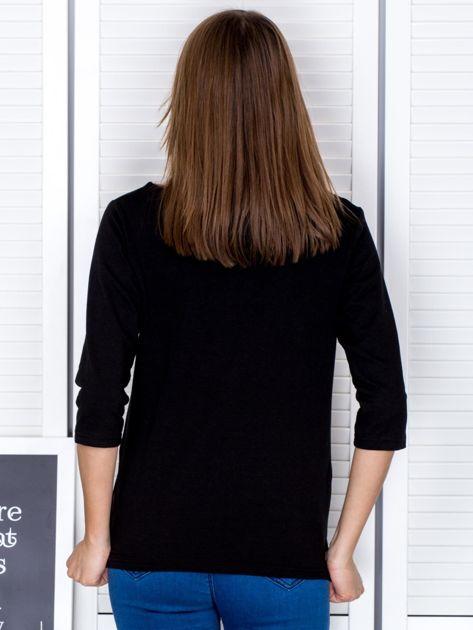 Czarna bluzka z bocznymi suwakami                              zdj.                              2