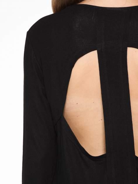 Czarna bluzka z dekoltem cut out                                  zdj.                                  7