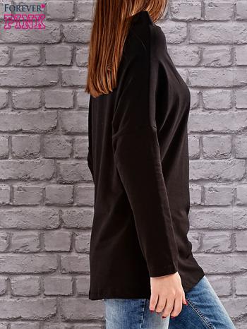 Czarna bluzka z koralikową aplikacją                                  zdj.                                  3