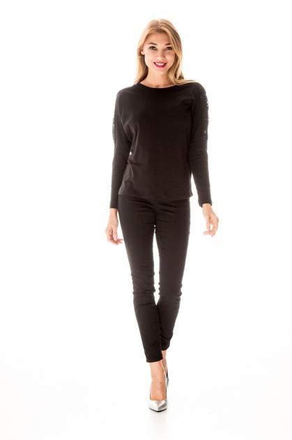 Czarna bluzka z koronkową wstawką na rękawach i z tyłu                                  zdj.                                  9