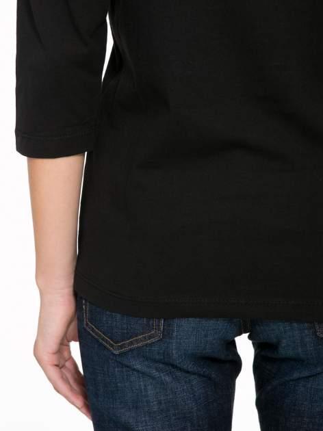 Czarna bluzka z motywem Paryża                                  zdj.                                  9
