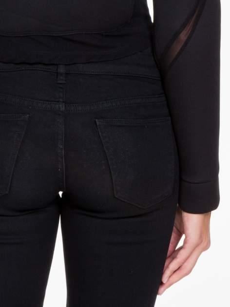 Czarna bluzka z neoprenu z tiulowymi wstawkami                                  zdj.                                  9