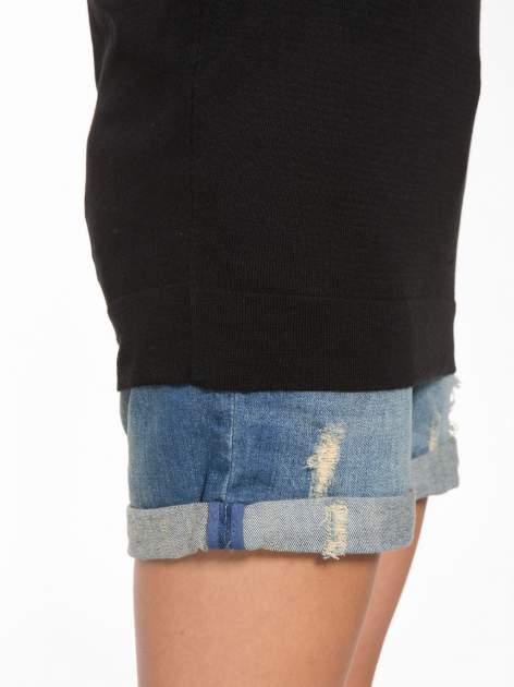 Czarna bluzka z obniżoną linią ramion                                  zdj.                                  9