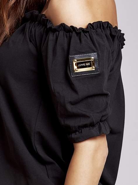 Czarna bluzka z odkrytymi ramionami                                  zdj.                                  6