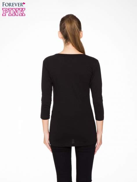 Czarna bluzka z portretem Audrey Hepburn                                  zdj.                                  4