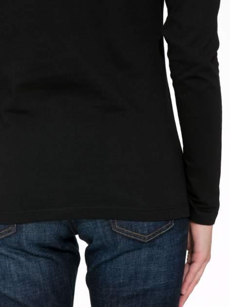 Czarna bluzka ze złotym brokatowym napisem ROCK AND ROLL                                  zdj.                                  8