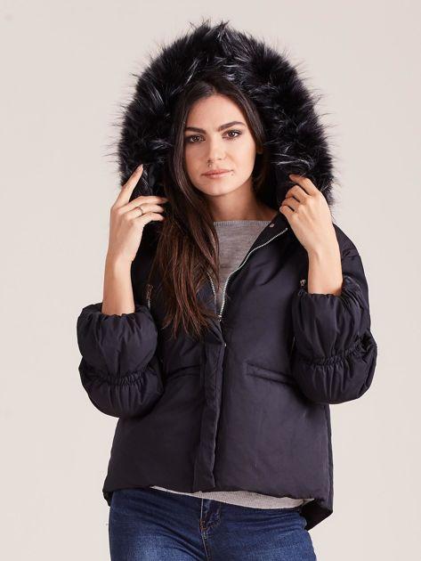 Czarna damska kurtka na zimę                              zdj.                              5