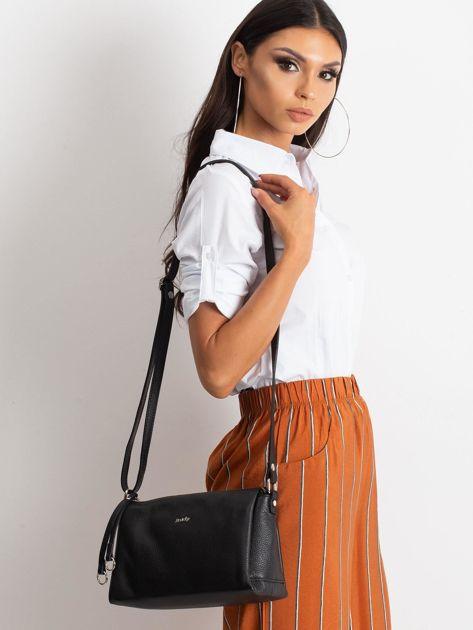 Czarna damska torebka skórzana                              zdj.                              1
