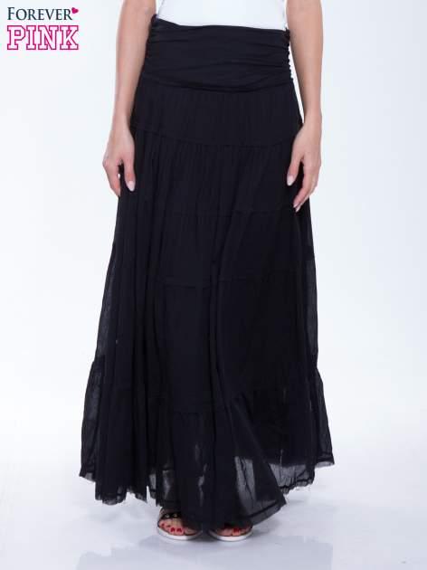 Czarna długa spódnica maxi w stylu boho