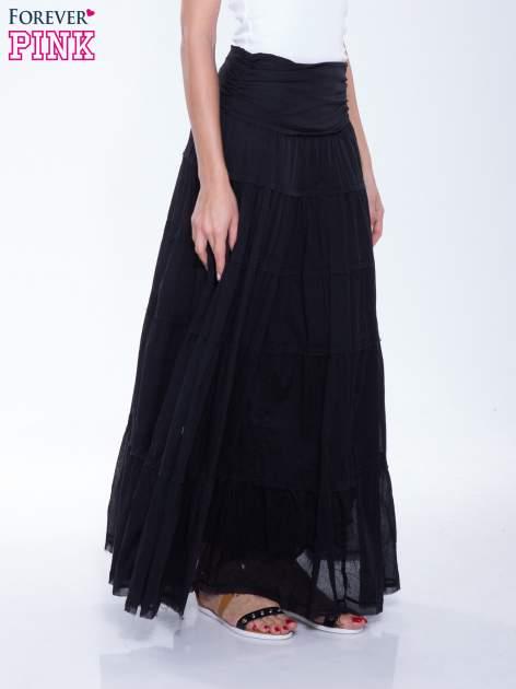 Czarna długa spódnica maxi w stylu boho                                  zdj.                                  3