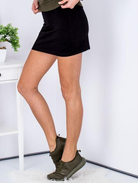 Czarna dresowa spódnica mini                              zdj.                              5