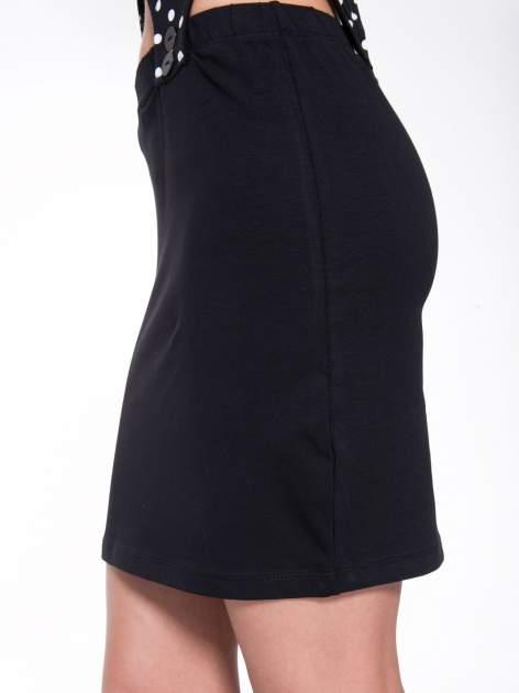 Czarna dwuczęściowa sukienka z odpinanym topem w groszki                                  zdj.                                  10