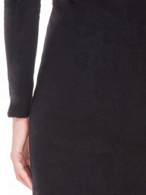 Czarna dzianinowa sukienka tuba z golfem                                  zdj.                                  9