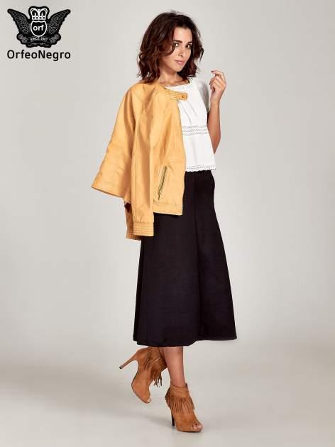 Czarna elegancka spódnica midi o rozkloszowanym kroju                                  zdj.                                  2