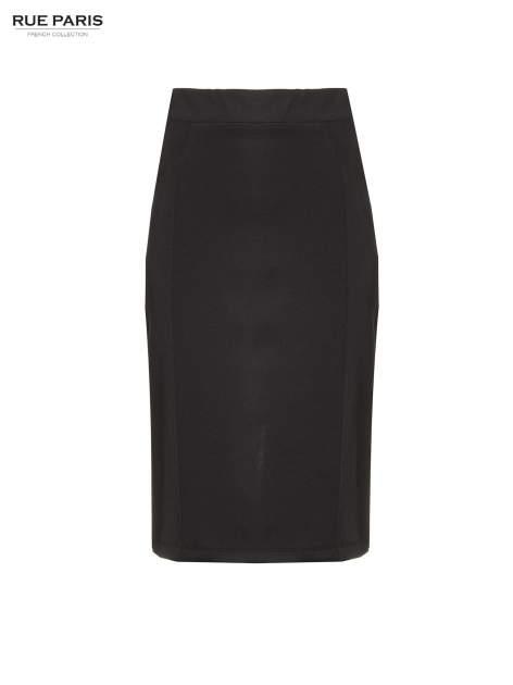 Czarna elegancka spódnica ołówkowa do kolan                                  zdj.                                  5