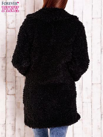 Czarna futrzana kurtka oversize                                  zdj.                                  5