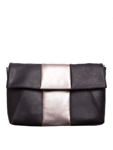Czarna geometryczna torebka w stylu glamour                                  zdj.                                  1