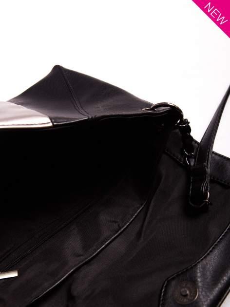 Czarna geometryczna torebka w stylu glamour                                  zdj.                                  7