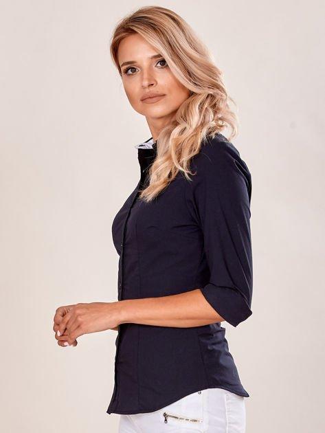 Czarna gładka koszula damska                              zdj.                              6