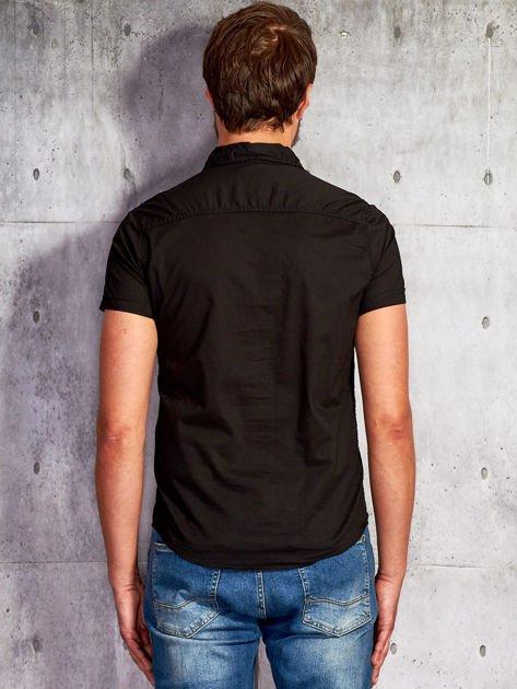 Czarna gładka koszula męska Funk n Soul                                  zdj.                                  2