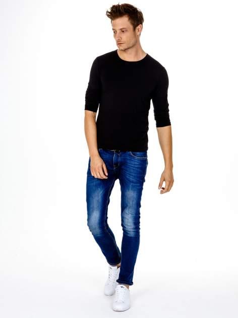 Czarna gładka koszulka męska longsleeve                                  zdj.                                  3