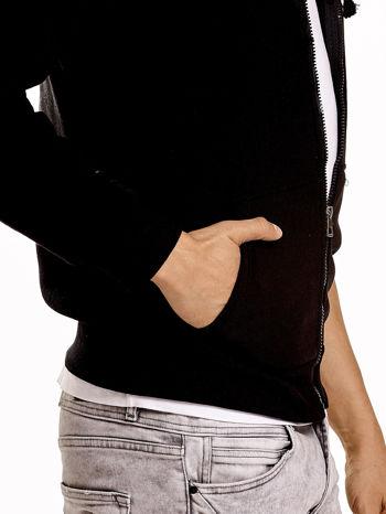 Czarna gruba bluza męska z kapturem i kieszeniami                                  zdj.                                  6
