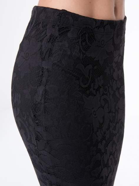 Czarna koronkowa spódnica typu tuba za  kolano                                  zdj.                                  9